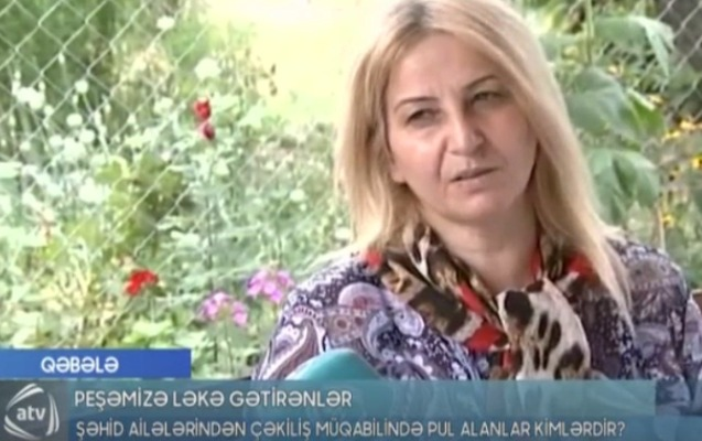 Şəhid ailələrindən çəkiliş üçün pul istəyənlər cəzalandırıldı