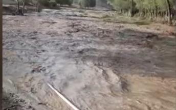 Lerikdə sel bir neçə kəndi qazsız qoydu - Video
