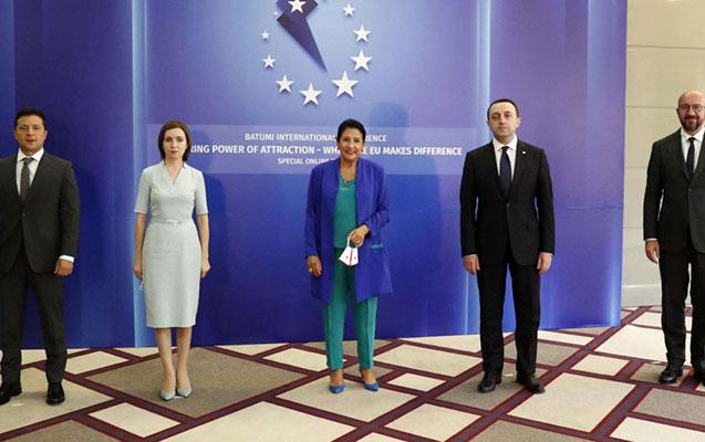 Gürcüstan, Ukrayna və Moldova prezidentləri birgə bəyannamə imzaladılar