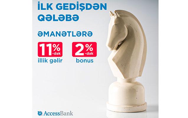 """""""AccessBank""""a depozit yerləşdir, anındaca bonus qazan"""