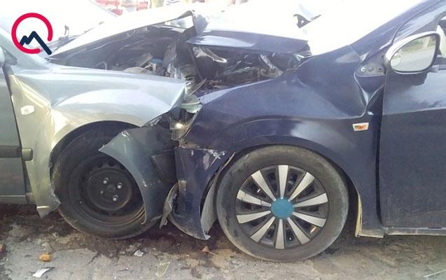 Qaxda avtomobillər toqquşdu, 7 nəfər yaralandı