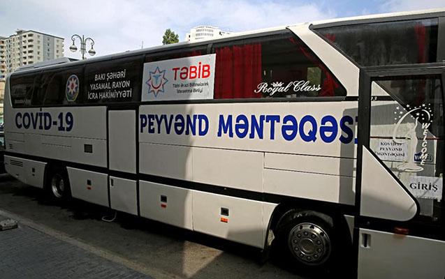 Bakıda səyyar avtobus məntəqələrində vaksinasiyaya başlanıldı