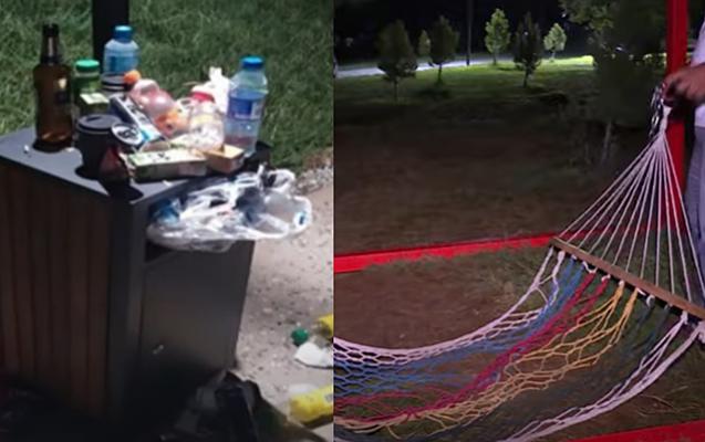 Bir həftə əvvəl açılan parkı bu hala saldılar - Video