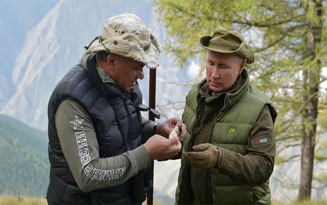 Putin Şoyqu ilə Sibirdə istirahətdədir