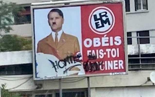 Makronu Hitlerə bənzədən şəxs cəzalandırıldı