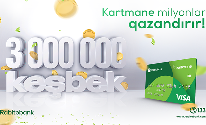 Bu kartın sahibləri 8 ayda 3 mln AZN-dən çox keşbek qazanıb!