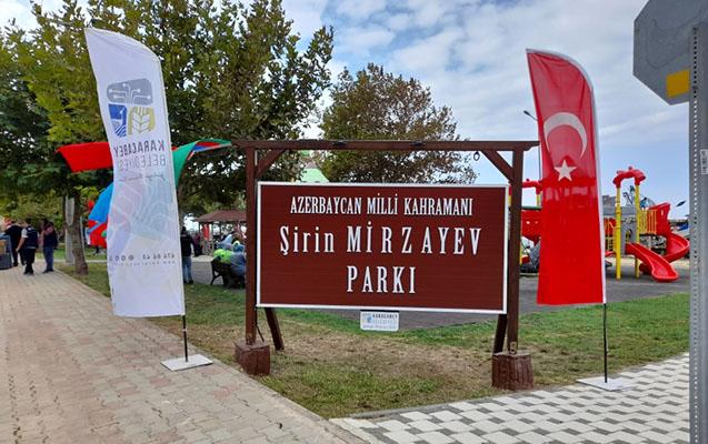 Türkiyədə Şirin Mirzəyev adına park açıldı