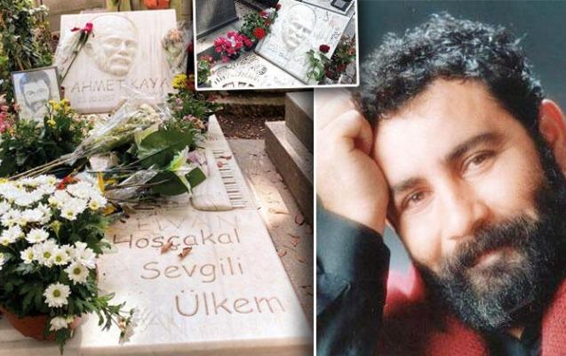 """Ahmet Kayanın """"yazı lövhəsi""""nə çevrilən məzar daşı..."""