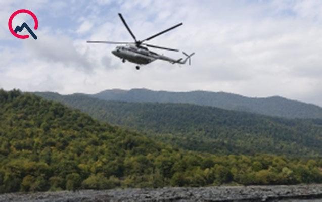 Çayda boğulan kişinin meyiti helikopterlə belə çıxarıldı