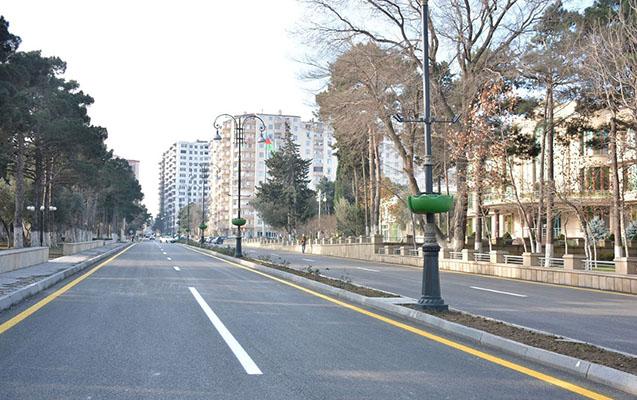 Nərimanov rayonundakı yollar yenidən qurulacaq