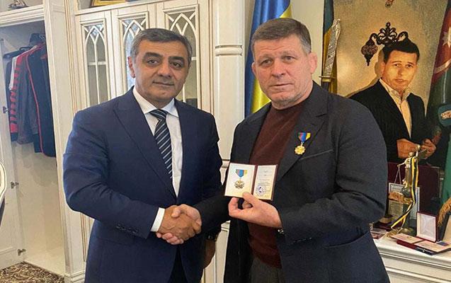 Azərbaycan-Ukrayna Alyansı Oleq Krapivini mükafatlandırdı