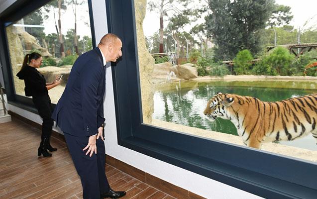 Prezidentlə ailəsi zooparkın açılışında - Fotolar+Video