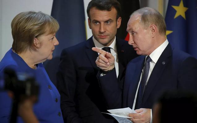 Merkel, Makron və Putin telefonla danışdı