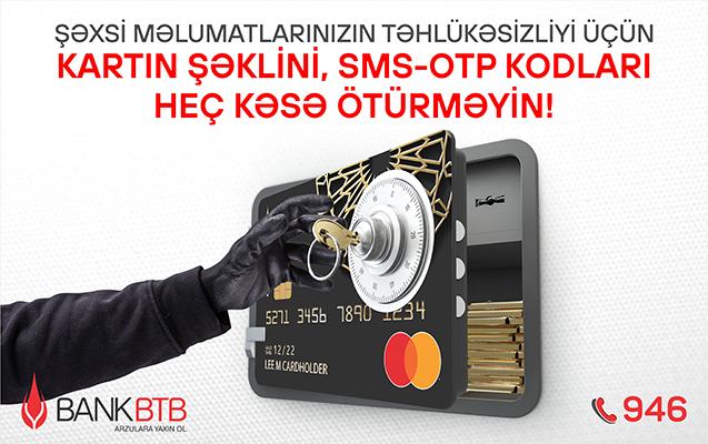 Bank BTB-dən təhlükəsizlik qaydaları