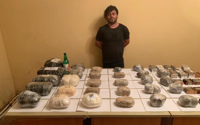 İrandan Azərbaycana 100 kq-dan çox narkotik keçirmək istədi