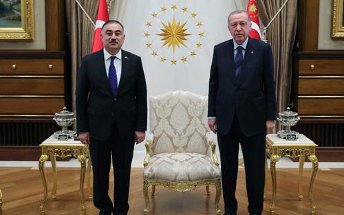 Ərdoğan Azərbaycan səfirinin etimadnaməsini qəbul etdi