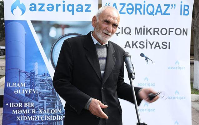 """""""Açıq mikrofon"""" aksiyası Samuxda"""