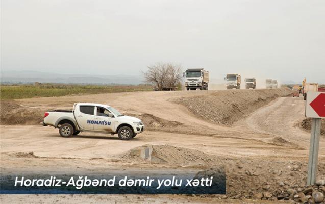 İşğaldan azad olunmuş ərazilərdə dəmir yolu infrastrukturu yenidən qurulur