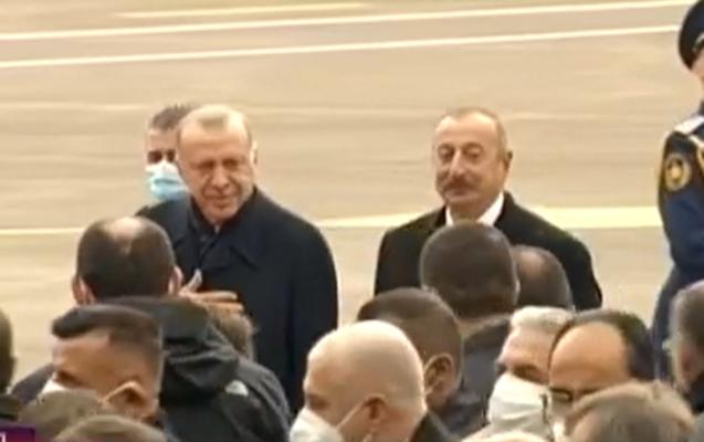 Əliyev Ərdoğanla Füzuli aeroportunun lentini kəsdi