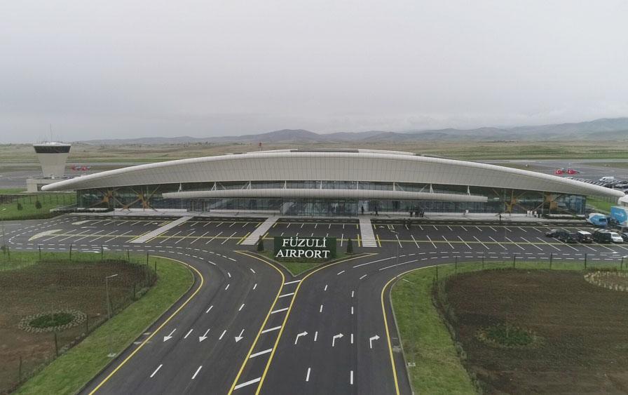 Füzuli aeroportunda saatda 200 sərnişin buraxmaq mümkün olacaq