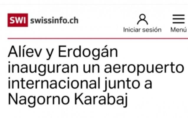 İspandilli mediada Füzuli Beynəlxalq Aeroportunun açılışı haqqında materiallar