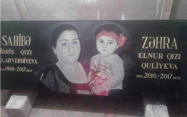 Zəhra və nənəsinin məzar daşı hazırlandı