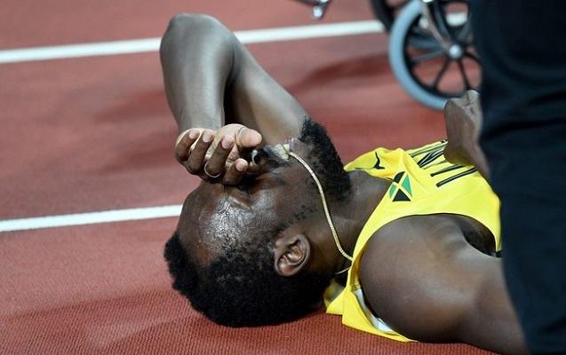 Bolt karyerasının son yarışında zədələndi