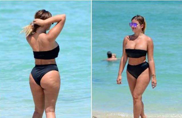 Rus gözəl bu dəfə də bikinidə göz oxşadı