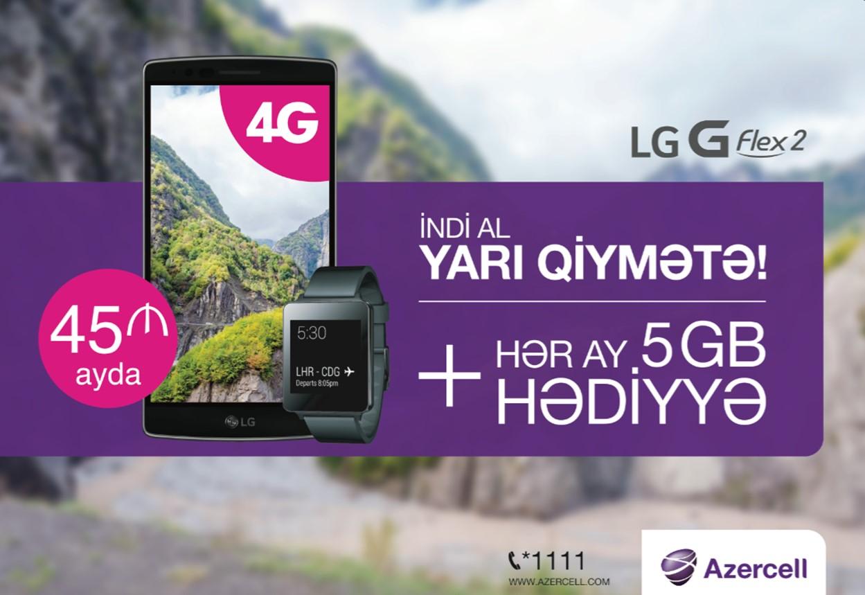 4G-dəstəkli LG FLEX 2 indi yarı qiymətə