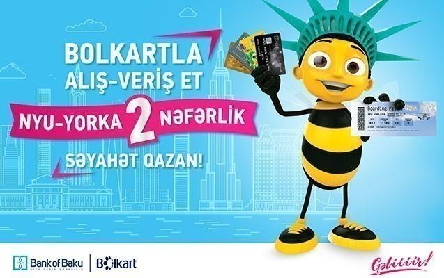 Bank of Baku Nyu-Yorka 2 nəfərlik səyahət qazandırır!