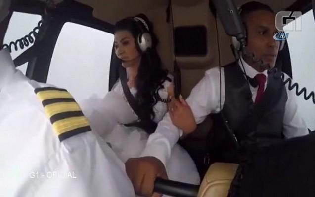 """Gəlin toya helikopterlə getmək istəmişdi - """"Ölümə uçdu"""" + Video"""