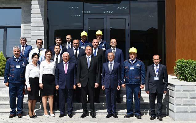 """Prezident """"Azərxalça"""" ASC-nin Şəmkir filialının açılışında - Fotolar+ Yenilənib"""
