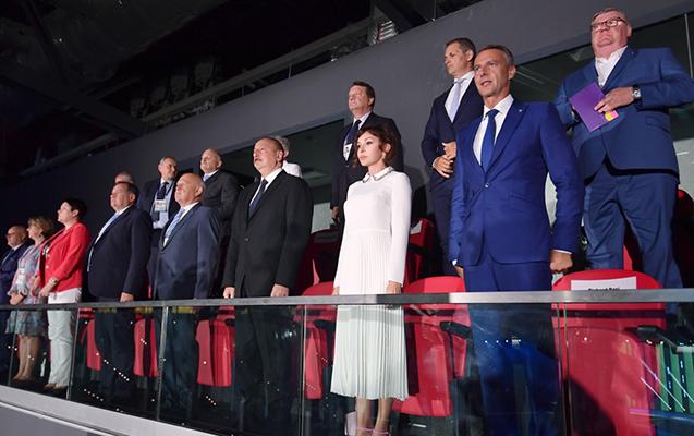 Prezident və xanımı təntənəli açılış mərasimində - Fotolar