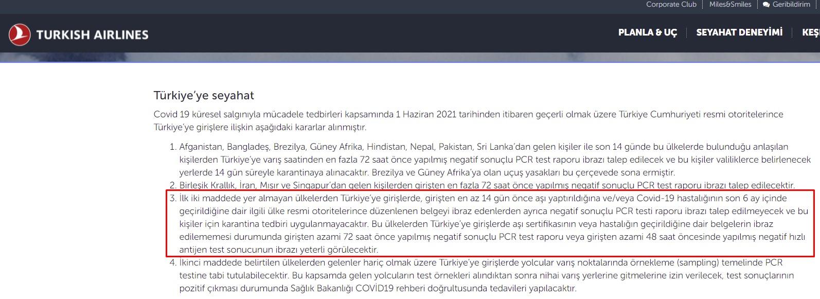 Vaksin olunanlar Türkiyə və Gürcüstana test vermədən gedəcək