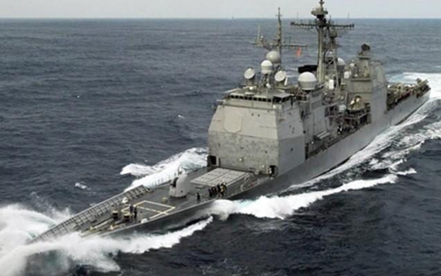 Amerika gəmisi İran gəmisinə xəbərdarlıq atəşi açdı